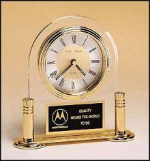 Đồng hồ để bàn thủy tinh 10